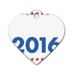 Wtf? 2016 Dog Tag Heart (one Side)