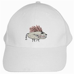 Monster Rat Hand Draw Illustration White Cap