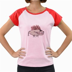 Monster Rat Hand Draw Illustration Women s Cap Sleeve T Shirt