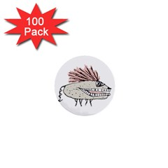 Monster Rat Hand Draw Illustration 1  Mini Buttons (100 Pack)