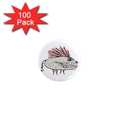 Monster Rat Hand Draw Illustration 1  Mini Magnets (100 Pack)