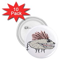 Monster Rat Hand Draw Illustration 1 75  Buttons (10 Pack)