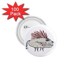 Monster Rat Hand Draw Illustration 1 75  Buttons (100 Pack)