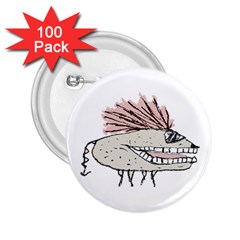 Monster Rat Hand Draw Illustration 2 25  Buttons (100 Pack)