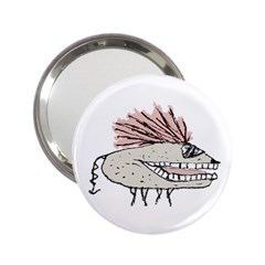 Monster Rat Hand Draw Illustration 2 25  Handbag Mirrors