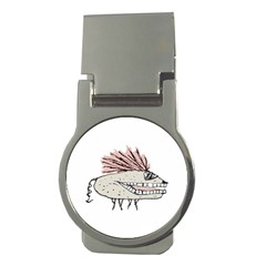 Monster Rat Hand Draw Illustration Money Clips (round)