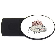Monster Rat Hand Draw Illustration Usb Flash Drive Oval (2 Gb)