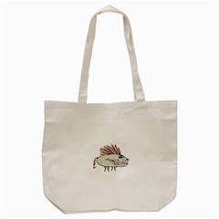 Monster Rat Hand Draw Illustration Tote Bag (cream)