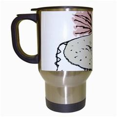 Monster Rat Hand Draw Illustration Travel Mugs (white)