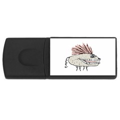 Monster Rat Hand Draw Illustration Rectangular Usb Flash Drive