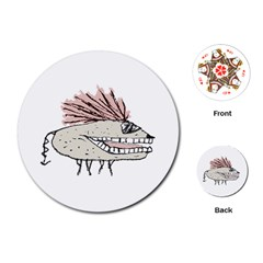 Monster Rat Hand Draw Illustration Playing Cards (round)
