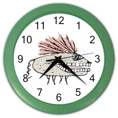 Monster Rat Hand Draw Illustration Color Wall Clocks