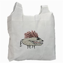 Monster Rat Hand Draw Illustration Recycle Bag (one Side)