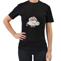 Monster Rat Hand Draw Illustration Women s T Shirt (black)