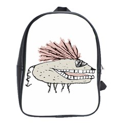 Monster Rat Hand Draw Illustration School Bag (large)