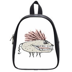 Monster Rat Hand Draw Illustration School Bag (small)