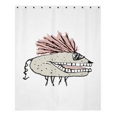 Monster Rat Hand Draw Illustration Shower Curtain 60  X 72  (medium)