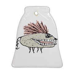 Monster Rat Hand Draw Illustration Bell Ornament (two Sides)