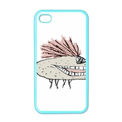 Monster Rat Hand Draw Illustration Apple Iphone 4 Case (color)
