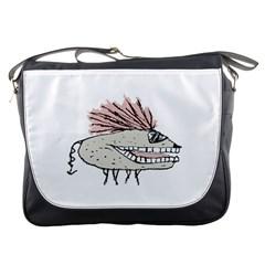 Monster Rat Hand Draw Illustration Messenger Bags