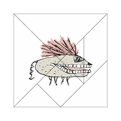 Monster Rat Hand Draw Illustration Acrylic Tangram Puzzle (6  X 6 )