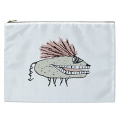 Monster Rat Hand Draw Illustration Cosmetic Bag (xxl)