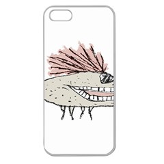 Monster Rat Hand Draw Illustration Apple Seamless Iphone 5 Case (clear)
