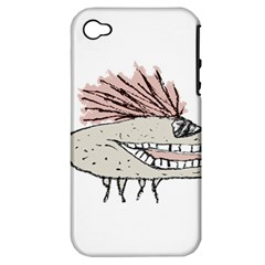 Monster Rat Hand Draw Illustration Apple Iphone 4/4s Hardshell Case (pc+silicone)