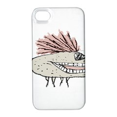 Monster Rat Hand Draw Illustration Apple Iphone 4/4s Hardshell Case With Stand