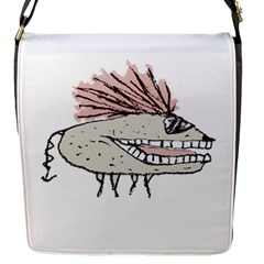 Monster Rat Hand Draw Illustration Flap Messenger Bag (s)