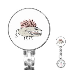 Monster Rat Hand Draw Illustration Stainless Steel Nurses Watch