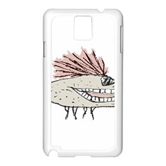 Monster Rat Hand Draw Illustration Samsung Galaxy Note 3 N9005 Case (white)