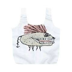 Monster Rat Hand Draw Illustration Full Print Recycle Bags (m)