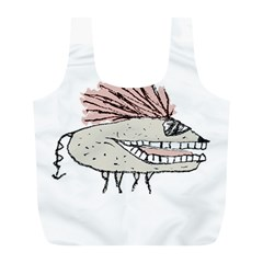 Monster Rat Hand Draw Illustration Full Print Recycle Bags (l)