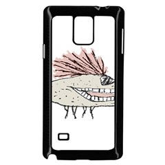 Monster Rat Hand Draw Illustration Samsung Galaxy Note 4 Case (black)