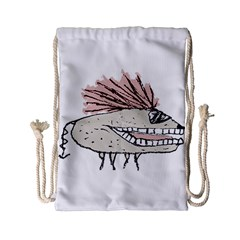 Monster Rat Hand Draw Illustration Drawstring Bag (small)