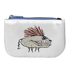 Monster Rat Hand Draw Illustration Large Coin Purse