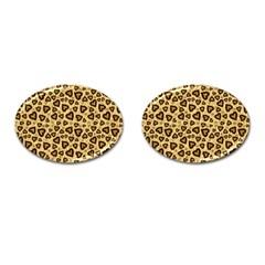 Leopard Heart 01 Cufflinks (oval)