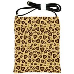 Leopard Heart 01 Shoulder Sling Bags
