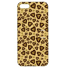 Leopard Heart 01 Apple Iphone 5 Hardshell Case With Stand