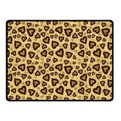 Leopard Heart 01 Double Sided Fleece Blanket (small)