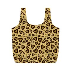 Leopard Heart 01 Full Print Recycle Bags (m)