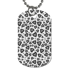 Leopard Heart 02 Dog Tag (two Sides)