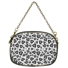 Leopard Heart 02 Chain Purses (two Sides)