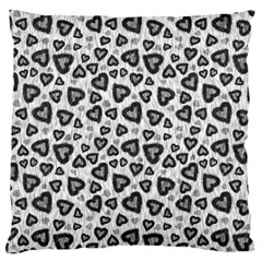 Leopard Heart 02 Large Cushion Case (two Sides)
