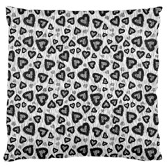 Leopard Heart 02 Large Flano Cushion Case (one Side)