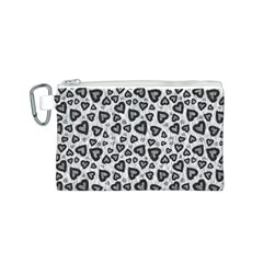 Leopard Heart 02 Canvas Cosmetic Bag (s)