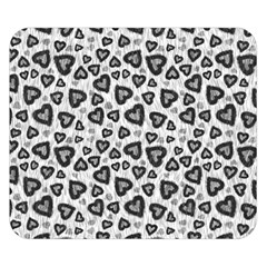 Leopard Heart 02 Double Sided Flano Blanket (small)