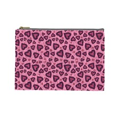 Leopard Heart 03 Cosmetic Bag (large)