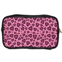 Leopard Heart 03 Toiletries Bags